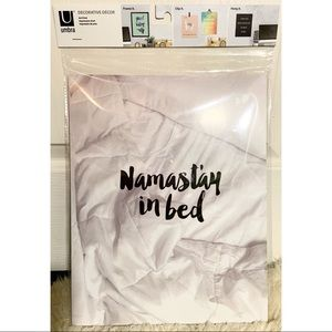 """Namast'ay in Bed"" Wall Art"